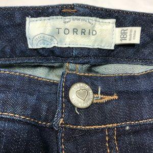 torrid Jeans - Torrid Relaxed Bootcut Dark Wash Size 18R